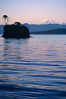 Mt Baker, San Juan Islands, Cone Island, Washington State