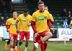 Charlton Athletic warm up before kick off