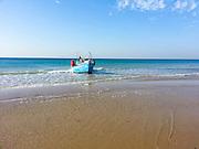 Fishing boat at Haifa, Kishon harbour, Israel