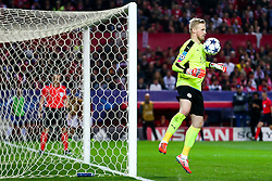 Kasper Schmeichel of Leicester City - Rogan Thomson/JMP - 22/02/2017 - FOOTBALL - Estadio Ramon Sanchez Pizjuan - Seville, Spain - Sevilla FC v Leicester City - UEFA Champions League Round of 16, 1st Leg.