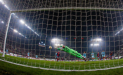 December 13, 2018 - Budapest, Hungary - Willy Caballero (GK) in action during the UEFA Europa League Group L match between MOL Vidi FC and Chelsea FC at Groupama stadium on Dec 13, 2018 in Budapest, Hungary. (Credit Image: © Robert Szaniszlo/NurPhoto via ZUMA Press)