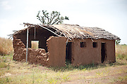 The school where Abdulai Sadia used to teach children in the community of Kunayili, near Gushegu, Northern Ghana, on Wednesday November 2, 2011. Part of the roof collapsed a few months back, and she now teaches in another building lent by a community member.