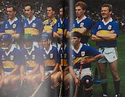 Tipperary-All-Ireland Hurling Champions 1989. Back Row: John Kennedy, John Heffernan, Noel Sheehy, Declan Carr, Ken Hogan, Conor Donovan, Declan Ryan, Bobby Ryan (capt). Front Row: Nicholas English, Michael Cleary, Cormac Bonnar, Colm Bonnar, Conal Bonnar, John Leahy, Pat Fox.