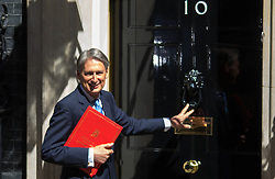 Downing Street, London, May 12th 2015. The all-conservatives Cabinet ministers gather for their first official meeting at Downing Street. PICTURED: Foreign Secretary Philip Hammond.