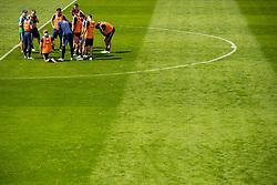May 29, 2018 - BÃ¥Stad, Sverige - 180529 Förbundskapten Janne Andersson hÃ¥ller genomgÃ¥ng med spelarna under Sveriges fotbollslandslags träning den 29 maj 2018 i BÃ¥stad  (Credit Image: © Petter Arvidson/Bildbyran via ZUMA Press)