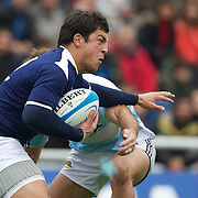 Florian Fritz, France, in action during the Argentina V France test match at Estadio Jose Amalfitani, Buenos Aires,  Argentina. 26th June 2010. Photo Tim Clayton....