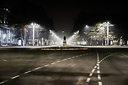 A picture shows nearly empty roads in the capital city of Armenia, Yerevan on Friday, Jan 1, 2021. (Photo/ Vudi Xhymshiti)