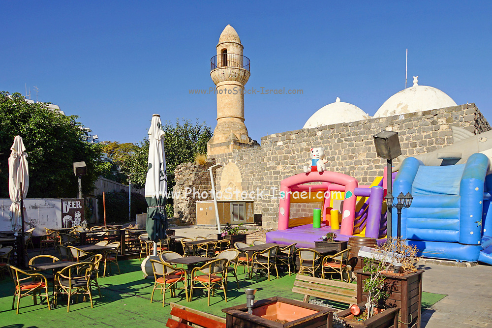 A mosque on the Promenade along the Sea of Galilee at Tiberias, Israel