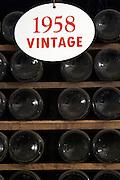 old bottles in the cellar 1958 ferreira port lodge vila nova de gaia porto portugal
