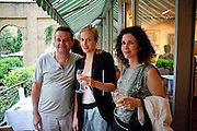 MARK HIX; POLLY MORGAN; MOLLIE DENT-BROCKLEHURST; , Private view and Summer party to celebrate Haunch of Venison's exhibition. Joanna Vasconcelos; I will Survive and Polly Morgan: Psychopomps. Dover st. arts Club. 20 July 2010. -DO NOT ARCHIVE-© Copyright Photograph by Dafydd Jones. 248 Clapham Rd. London SW9 0PZ. Tel 0207 820 0771. www.dafjones.com.