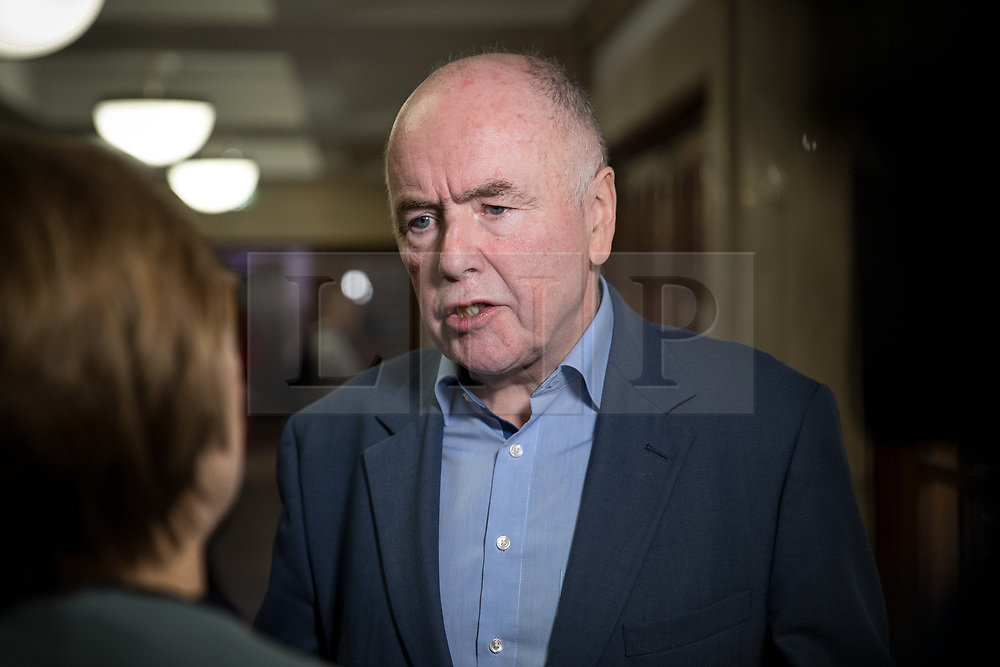 © Licensed to London News Pictures. 13/01/2018. London, UK. Labour politician and trade unionist Jack Dromey is interviewed by media at the Fabian Society 2018 Conference. The conference title is 'Policy Priorities for the Left'. Photo credit : Tom Nicholson/LNP