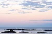 The view of Långviksskär from the Söderö island. Stockholm Archipelago, Sweden