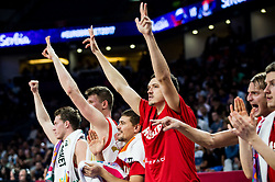 Players of Russia celebrate during basketball match between National Teams of Russia and Serbia at Day 16 in Semifinal of the FIBA EuroBasket 2017 at Sinan Erdem Dome in Istanbul, Turkey on September 15, 2017. Photo by Vid Ponikvar / Sportida