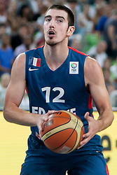 Nando De Colo of France during last friendly match before Eurobasket 2013 between National teams of Slovenia and France on August 31, 2013 in SRC Stozice, Ljubljana, Slovenia. (Photo by Urban Urbanc / Sportida.com)