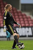 20111026 Barcelos: Portugal vs. Dinamarca, UEFA Women's Euro 2013 Qualifying, Group 7. In picture: Denmark keeper Heidi Johansen. Photo: Pedro Benavente/Cityfiles