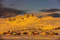 Winter landscape, Lofoten Islands, Arctic, Northern Norway.