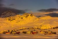 Winter landscape, Lofoten Islands, Arctic, Northern Norway.