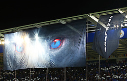 Fearless branding during the first ever UEFA Champions League match at the King Power Stadium - Mandatory by-line: Matt McNulty/JMP - 27/09/2016 - FOOTBALL - King Power Stadium - Leicester, England - Leicester City v FC Porto - UEFA Champions League