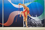 Camilla Cavaliere from Flaminio team during the Italian Rhythmic Gymnastics Championship in Padova, 25 November 2017.