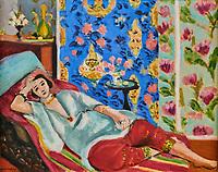 France, Paris (75), zone classée Patrimoine Mondial de l'UNESCO, les Tuileries, le musée de l'Orangerie, Odalisque à la culotte rouge par Henri Matisse, 1924// France, Paris, les Tuileries, museum of Orangerie, Odalisque à la culotte rouge by Henri Matisse, 1924