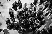 """Matteo Renzi incontra i cittadini di Corviale durante la visita al Calciosociale, realtà di aggregazione sportiva e non solo. ll Serpentone, soprannominato così dai romani, per la sua lunghezza di 1,200 Km, l' edificio progettato e costruito al Corviale, Roma 27 aprile 2017. Christian Mantuano / OneShot<br /> <br /> Matteo Renzi meets the citizens of Corviale during his visit at Calciosociale cultural Association. """"The Serpentone"""", called by roman citizens, for its length of 1,200 Km, the building designed and built at Corviale neighborhood. Rome, 27 April 2017. Christian Mantuano / OneShot"""