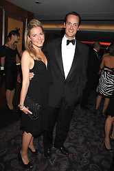 The HON.EDWARD TOLLEMACHE and his wife SOPHIE at the 2008 Boodles Boxing Ball in aid of the charity Starlight held at the Royal Lancaster Hotel, London on 7th June 2008.<br /> <br /> NON EXCLUSIVE - WORLD RIGHTS