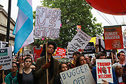 Thousands turned out to protest against US President Trumps visit to London, June 4th 2019, London, United Kingdom.