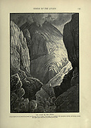 Engraving on Wood of The Gorge of the Litany from Picturesque Palestine, Sinai and Egypt by Wilson, Charles William, Sir, 1836-1905; Lane-Poole, Stanley, 1854-1931 Volume 2. Published in New York by D. Appleton in 1881-1884