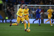 Tom Barkhuizen of Preston North End in action.EFL Skybet championship match, Cardiff city v Preston North End at the Cardiff city stadium in Cardiff, South Wales on Friday 29th December 2017.<br /> pic by Andrew Orchard, Andrew Orchard sports photography.