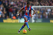Wilfried Zaha of Crystal Palace in action. Barclays Premier League match, Crystal Palace v Swansea city at Selhurst Park in London on Monday 28th December 2015.<br /> pic by John Patrick Fletcher, Andrew Orchard sports photography.