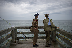 History enthusiasts on Omaha Beach in Vieille sur Mer, France, 04 June 2019. World leaders are to attend memorial events in Normandy, France on 06 June 2019 to mark the 75th anniversary of the D-Day landings, which marked the beginning of the end of World War II in Europe. Photo by Eliot Blondet/ABACAPRESS.COM