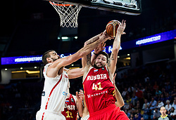 Marc Gasol of Spain vs Nikita Kurbanov of Russia during basketball match between National Teams  Spain and Russia at Day 18 in 3rd place match of the FIBA EuroBasket 2017 at Sinan Erdem Dome in Istanbul, Turkey on September 17, 2017. Photo by Vid Ponikvar / Sportida
