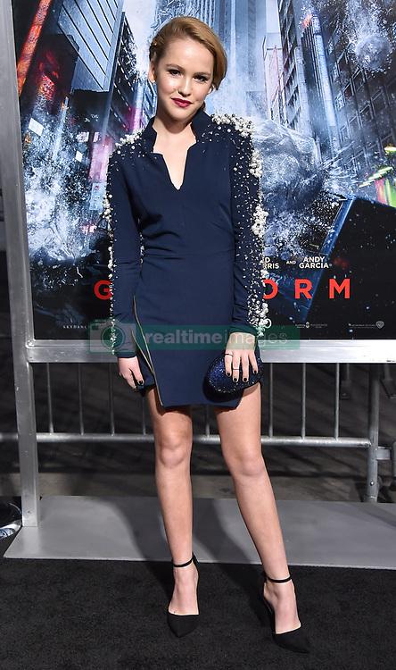 October 17, 2017 - Los Angeles, California, USA - 10/16/17.Talitha Bateman at the world premiere of ''Geostorm''..(Hollywood, CA) (Credit Image: © Starmax/Newscom via ZUMA Press)