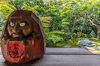 Daruma-dera or Horin-ji belongs to the esoteric Shingon sect and is dedicated to the Daruma or Dharma as it is often spelled in English. The moss covered garden at the rear lets you enjoy a few moments of tranquility, unlike most well-composed gardens in Kyoto thanks to its off-the-beaten-path neighborhood.