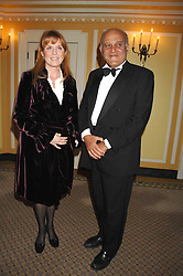 SARAH, DUCHESS OF YORK and SIR MAGDI YACOUB at the Chain of Hope Ball held at The Dorchester, Park Lane, London on 4th February 2008.<br />