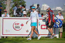 August 23, 2018 - Regina, SK, U.S. - REGINA, SK - AUGUST 23: Lexi Thompson (USA) looks down 12 as she steps on the tee box during the CP Women's Open Round 1 at Wascana Country Club on August 23, 2018 in Regina, SK, Canada. (Photo by Ken Murray/Icon Sportswire) (Credit Image: © Ken Murray/Icon SMI via ZUMA Press)