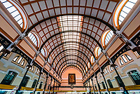 Interior view of the  Saigon Central Post Office. The building was constructed when Vietnam was part of French Indochina in the late 19th century. It counts with Gothic, Renaissance and French influences. It was constructed between 1886-1891. Ho Chi Minh CIty, Vietnam.