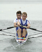 2002 FISA World Cup. Hazewinkel. BEL.       Friday  14/06/2002     .email images@Intersport-images.com.[Mandatory Credit: Peter Spurrier/Intersport Images]  .                                 /06/2002.Rowing    .LM2- GBR  Ned kittoe Bow and Nicholas English Rowing, FISA WC.Hazenwinkel, BEL