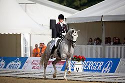 Dearing Stephanie (AUT) - Auheim's Del Magico<br /> FEI World Dressage Championships for Young Horses<br /> Internationales Dressur- und Springfestival - Verden 2014<br /> © Dirk Caremans
