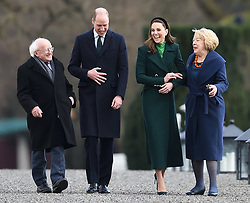 The Duke and Duchess of Cambridge meet the President of Ireland, Michael D. Higgins, at Áras an Uachtaráin, on the first day of their 3 day visit to Ireland, in Dublin, Ireland, on the 3rd March 2020. 03 Mar 2020 Pictured: Michael D. Higgins, Prince William, Duke of Cambridge, Catherine, Duchess of Cambridge, Kate Middleton, Sabine Coyne. Photo credit: James Whatling / MEGA TheMegaAgency.com +1 888 505 6342