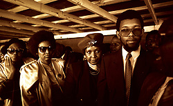 WINNIE MANDELA PHOTOGRAPHED IN THE TRANSKEI 1989 WITH DALI MPOFU AND OTHER UNIDENTIFIED FREINDS.<br /> PHOTO: BENNY GOOL.