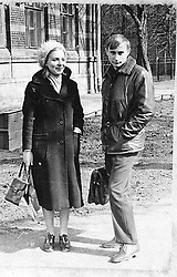 Before rising to power as one of the most infamous leaders in the world, Putin was a playful, hipster-dressing man in love. circa 1970 - Russia - A young VLADIMIR PUTIN with his mother. (Credit Image: © Russian Archives via ZUMA Wire)