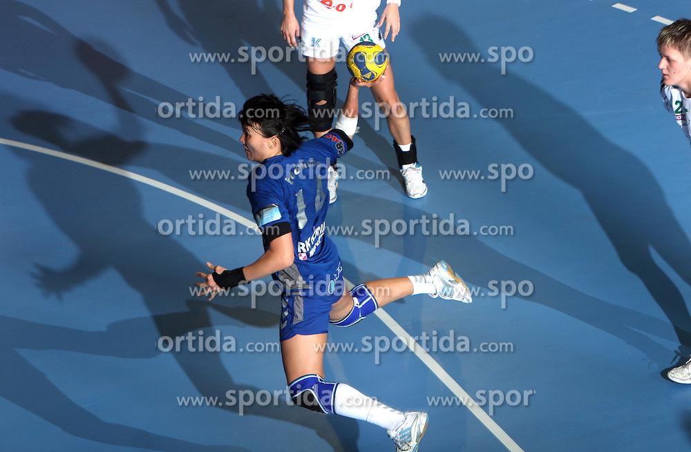 Liudmila Bodnieva at EHF Champions league handball match in Group II between RK Krim Mercator and Gyori Audi Eto KC, on February 7, 2009, in Kodeljevo, Ljubljana, Slovenia. Gyori won 35:31. (Photo by Vid Ponikvar / Sportida)