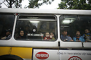 Hanoi, Vietnam. March 11th 2007..A bus in the streets of Hanoi.