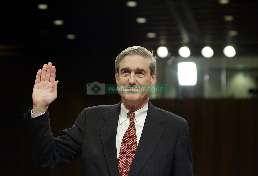 May 17, 2017 - FILE PHOTO - The Justice Department on Wednesday named ROBERT MUELLER as special counsel to oversee the department's investigation into Russian meddling in the 2016 election. Mueller III served as FBI director from 2001 through 2013. Pictured: Apr 14, 2004; Washington, DC, USA; ROBERT S. MUELLER, Director, Federal Bureau of Investigation speaks during a hearing of the National Commission on Terrorist Attacks Upon the United States, April 14, 2004 on Capitol Hill in Washington, DC. Mueller emphasized his lack of enthusiasm in regard to the creation of a surveillance agency similar to England's MI5.  (Credit Image: © Chris Kleponis/ZUMAPRESS.com)