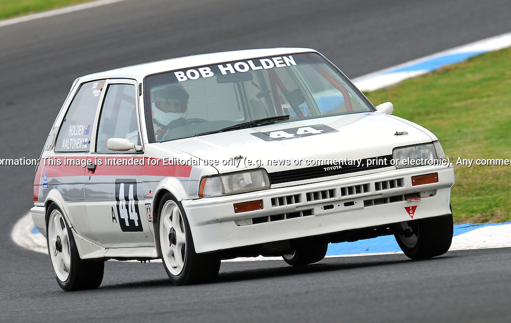 Justin Matthews - Toyota Corolla AE82 - Group A.Historic Motorsport Racing - Phillip Island Classic.18th March 2011.Phillip Island Racetrack, Phillip Island, Victoria.(C) Joel Strickland Photographics.Use information: This image is intended for Editorial use only (e.g. news or commentary, print or electronic). Any commercial or promotional use requires additional clearance.