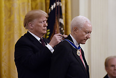 US President Donald Trump presents the Presidential Medal of Freedom - 16 Nov 2018