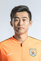 **EXCLUSIVE**Portrait of Chinese soccer player Li Hailong of Shandong Luneng Taishan F.C. for the 2018 Chinese Football Association Super League, in Ji'nan city, east China's Shandong province, 24 February 2018.