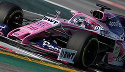 Racing Point Lance Stroll during day four of pre-season testing at the Circuit de Barcelona-Catalunya.