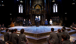 Forty Years On <br /> by Alan Bennett <br /> at Festival Theatre Chichester , Great Britain <br /> press photocall <br /> 25th April 2017 <br /> <br /> Richard Wilson as Headmaster <br /> <br /> Alan Cox as Franklin <br /> <br /> Danny Lee Wynter as Tempest <br /> <br /> Jenny Galloway as Matron <br /> <br /> Lucy Briers as Miss Nisbitt <br /> <br /> <br /> <br /> <br /> <br /> Photograph by Elliott Franks <br /> Image licensed to Elliott Franks Photography Services